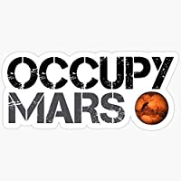 Sticker Vinyl Decal for Cars, Water Bottle, Fridge, Laptop Occupy Mars - Space Planet - SpaceX Stickers (3 Pcs/Pack)