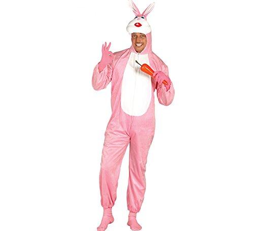 Hasen Rosa Kostüm - rosa Kaninchen - Kostüm für Erwachsene Karneval Fasching Hase Karnickel Gr. M - L, Größe:M