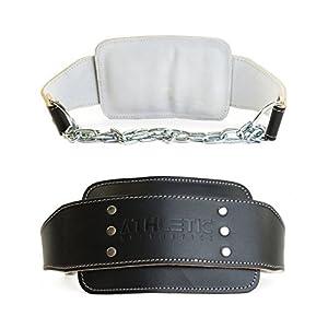 ATHLETIC AESTHETICS Dip Gürtel/Dip Belt [aus Leder] für Zusatzgewichte beim Krafttraining, Klimmzügen und Dips