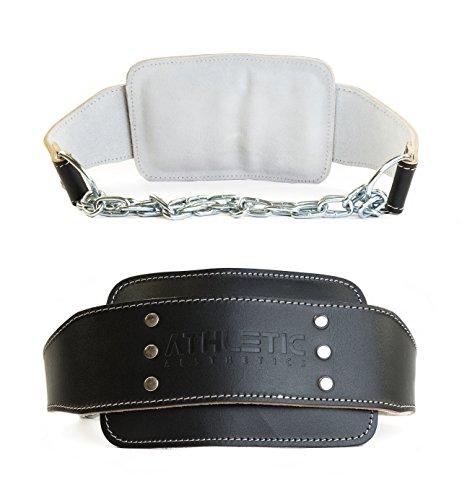 ATHLETIC AESTHETICS Dip Gürtel/Dip Belt [aus Leder] für Zusatzgewichte beim Krafttraining, Klimmzügen und Dips -