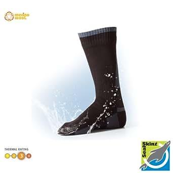 SealSkinz Mid Weight Mid Length Socks Black Medium - UK 6-8