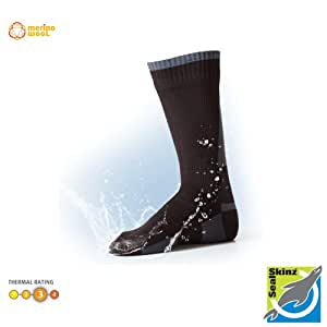 SealSkinz Mid Weight Mid Length Socks Black Small - UK 3-5