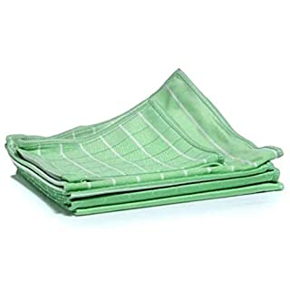 Aqua Laser Bamboo Dust Cloth Set 6 pcs Quick-dry Anti-bacterial Household Cleaning Supply Rug Pad Green