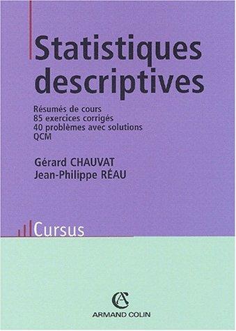 Statistiques descriptives par Gérard Chauvat, Jean-Philippe Réau