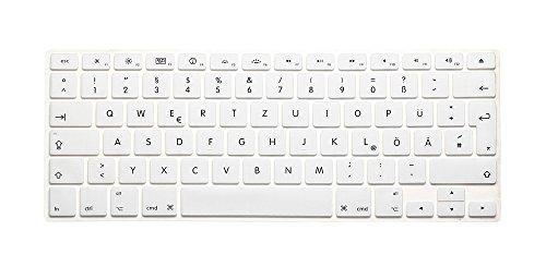 System-S Silikon Tastaturschutz Tastaturabdeckung QWERTZ Deutsche Tastatur Abdeckung Schutz für MacBook Pro 13