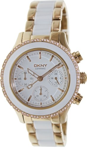DKNY Women's 'Westside' Quartz Stainless Steel and Ceramic Casual Watch, Color Gold-Toned (Model: NY8825)