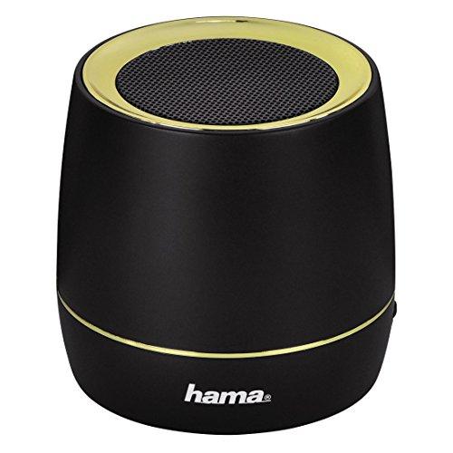 Hama Lautsprecher für Smartphones,Tablets und Notebooks (6,5 x 6,8 cm (B x H), inkl. USB-Ladekabel) schwarz