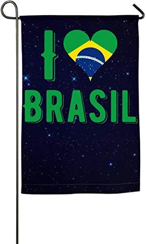 N/A Ich Liebe Brasilien-Garten-Flaggen Feiertags-Flaggen-Frühlings-Sommer-Garten-Flagge -