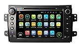 8 pollici Android 5.1.1 Lollipop OS Lettore DVD dell'automobile per Fiat Sedici 2006 2007 2008 2009 2010 2011 2012 2013, Quad Core 1.6G Cortex A9 CPU 16G Flash 1G RAM DDR3 1024x600 GPS Radio Ingresso Aux OBD2