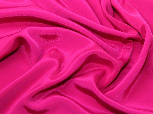 CREPE de Chine Kleid Stoff Shocking Pink-Meterware (Chine Crepe De)