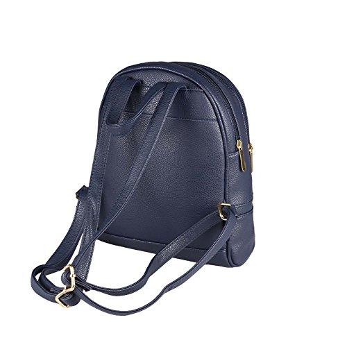 OBC Donna Ragazze Jeans Zaino in strass brillantini Denim Cotone ZAINO DA Città ZAINO DA Città Borsa a tracolla borsa - bianco, ca 28x25x10 cm (BxHxT) blu scuro 28x30x12 cm