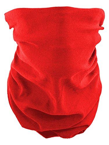 Scaldacollo tubolare, foulard, sciarpa multifunzione rosso uni rot