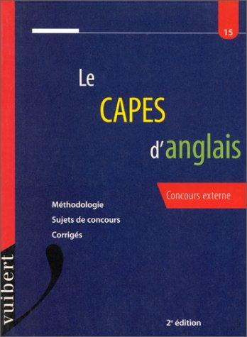 Le Capes d'anglais, numéro 15