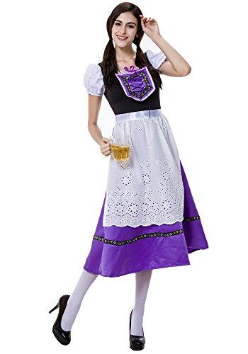 l Kleid, Bayerisches Kostüm, Schicke Kleider, Dirndl Rock,Oktoberfest Kostüm (Mehrfarbig,EU M = Tag L) (Schickes Kleid Oktoberfest)