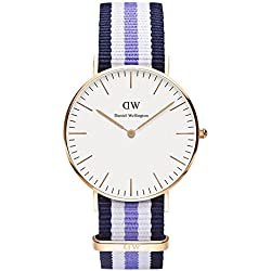 Daniel Wellington Women's Quartz Watch Classic Trinity Lady 0509DW with Plastic Strap