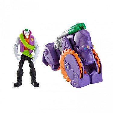 Batman - Le Joker et Moto Gorille - Véhicule 2 en 1 Transformable + 1 Figurine 10 cm