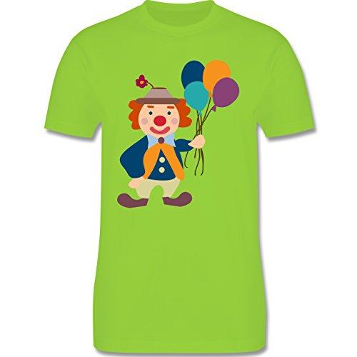 Karneval & Fasching - Clown Luftballons - Herren Premium T-Shirt Hellgrün