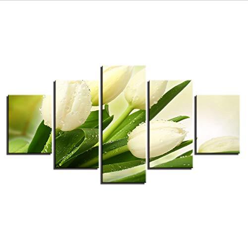 Leinwandbild Weiße Tulpen
