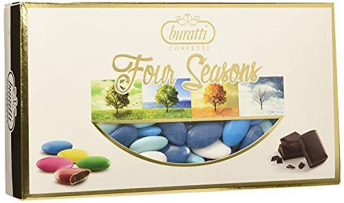 Confetti buratti al cioccolato multicolor sfumati 1 kg (celeste - mare)