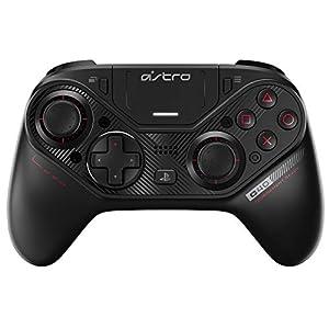 ASTRO Gaming C40 TR-Controller – Kompatibel mit Playstation 4 und PC + Zubehör (Reisetasche, 4 weitere Tastenkappen, Kabelloser USB-Transmitter), Schwarz