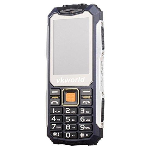 Teléfono Móvil Libre,VKworld V3S Móviles de teclas grandes barato con Impermeable,a prueba de golpes,a prueba de polvo Teléfono celular rugged al aire libre teléfono móvil GSM para personas mayores(2G,2.4' Pantalla,Doble SIM,Cámara 0.3MP,Batería 2200mAh,32M+32M,radio FM,Bluetooth) - Verde