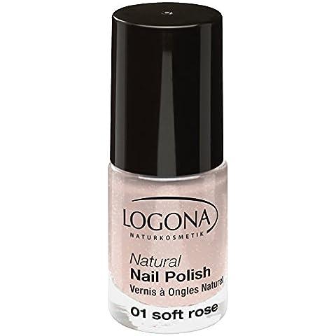 LOGONA Natural Esmalte De Uñas 01 rosa suave (bio) Esmalte de uñas rosa