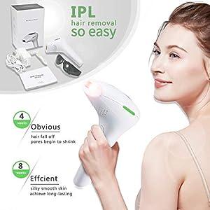 Körper- und Gesichtshaarentfernungsgerät zur dauerhaft sichtbaren Haarentfernung – 500.000 Lichtimpulse IPL-Dauerhaarentfernung für Damenbikinibereich, Beine, Arme, Unterarme usw.