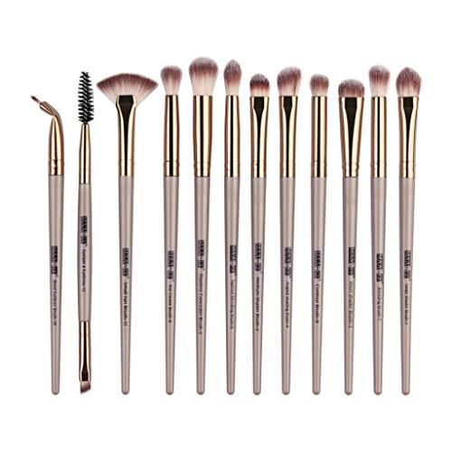 12 piezas maquillaje sombra ojos pincel resaltador