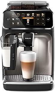 Philips 5400 Serie EP5447/90 Kaffeevollautomat, 12 Kaffeespezialitäten (LatteGo Milchsystem) Matt-Schwarz/Verc