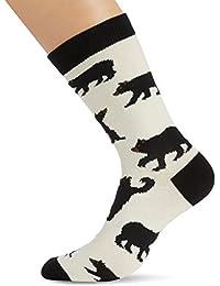 Hatley Mens Crew Socks Black Bears - Socquettes - Homme