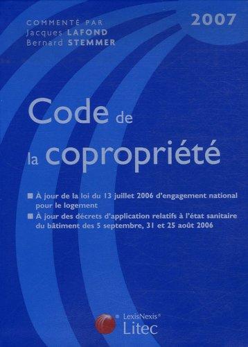 Code de la copropriété 2007 (ancienne édition)
