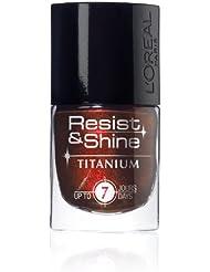 L'Oréal Paris Nagellack, Resist and Shine, 734 titanium Black Gloss