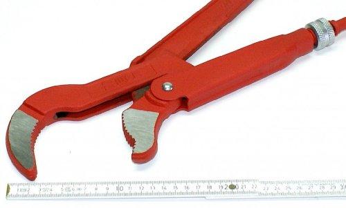 3 ' Zoll, 75 mm Eck-Rohrzange, Wasserpumpenzange Rohrzange sehr groß, 64 cm lang, max. Maulöffnung 150 mm, Chrom-Vanadium-Stahl. TOP-Qualität aus Deutschland, WGB, made in Germany, 10 Jahre Garantie