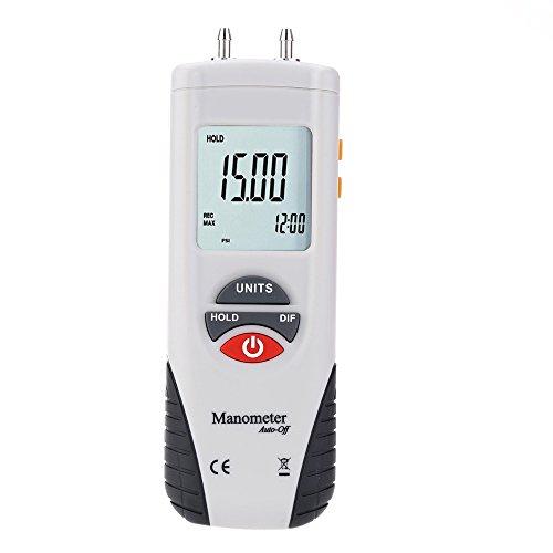 Hti Digitales Luftdruckmessgerät und Differenzdruckmessgerät HVAC Gasdruckprüfer