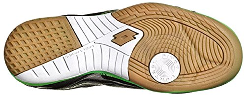 Lotto Tacto Ii 500 Jr, Chaussures de Football Mixte Bébé Noir, vert (Blk / Mint Fl)