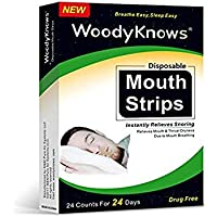 Mund-Trockenheit, Halsschmerzen & Schnarchen-Lösung - WoodyKnows Wegwerf Mund-Streifen Mund-Band, sanft schließen... preisvergleich bei billige-tabletten.eu