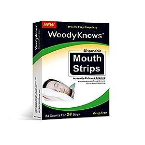 Mund-Trockenheit, Halsschmerzen & Schnarchen-Lösung – WoodyKnows Wegwerf Mund-Streifen Mund-Band, sanft schließen Sie Ihren Mund zu entlasten Mund Atem