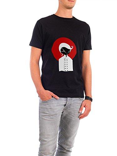 """Design T-Shirt Männer Continental Cotton """"Alone"""" - stylisches Shirt Motiv von Volkan Dalyan Schwarz"""