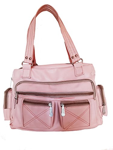 Jovial Beige color multi pocket Stylish Ladies Handbag(JBH112)  available at amazon for Rs.251