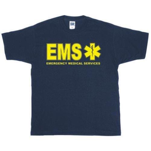 Outdoor Uomo Ems due lati impresso T-Shirt 3X Grande Blu Navy