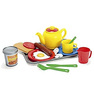 Dantoy - Juego de Desayuno inglés, Juguetes para Juego de rol para niños,17 Piezas, Incluye té y Comida, Multicolor