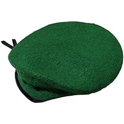 Boina Verde de Lana Táctica de Élite de Estilo Militar Ejercito Caza Airsoft Viper Extensible Verde
