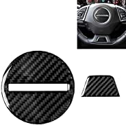 Easy to disassemble and install 2 in 1 Car Carbon Fiber Steering Wheel Button Decorative Sticker for Chevrolet