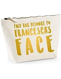This Bag Belongs to... - Personalised Name - Fun Slogan, Make Up and Cosmetics Bag, Accessory Organiser