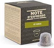 Note D'Espresso, Capsule, Compatibili con Sistema Nespresso, Tè Verde, 40