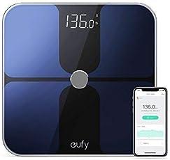 Eufy Smart Personenwaage mit Bluetooth 4.0, Bluetooth Digitale Körperwaage mit großem LED Display, Gewicht/ Körperfettanteil / BMI / Fitness und Körperanalyse, kg / lb / st Einheit