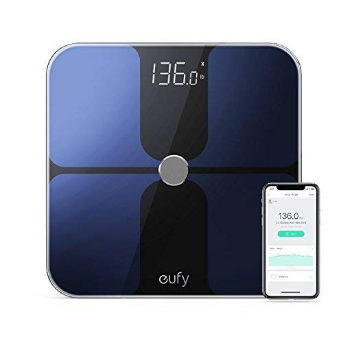 Eufy Bilancia Smart BodySense con Bluetooth, Grande Display LED, Analisi delle Composizione Del Corpo con Peso/Grasso Corporeo/BMI/Fitness Body, Auto On/Off,...