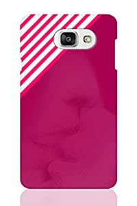 AMAN Pink Line Design with Image 3D Back Cover for Samsung Galaxy A7 2016
