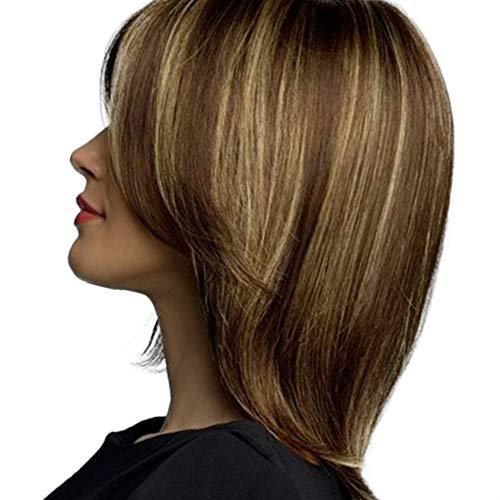 Provide The Best Mode Damen Kurz Braun Blond natürliche gerade Cosplay Haar-volle Perücken -