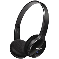 Philips SHB4000/00 - Auriculares de diadema abiertos Bluetooth (control remoto integrado), negro [Importado de Italia]